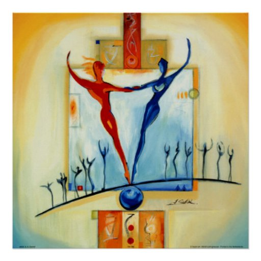 Value And Balance In Art : Perfectly balanced by artist alfred gockel print zazzle