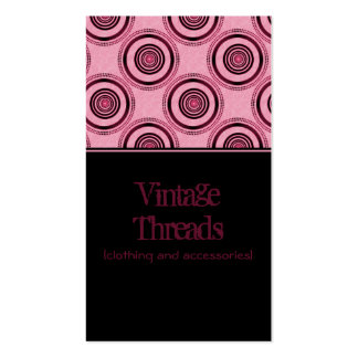 Perfectly Chic Business Card, Magenta Business Card