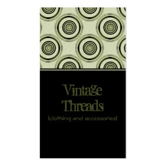 Perfectly Chic Business Card, Olive Green Business Card