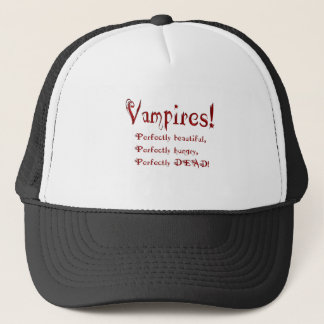 Perfectly Dead Vampire Humor Goth Trucker Hat