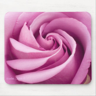Perfectly Folded Pink Rose Mousepad