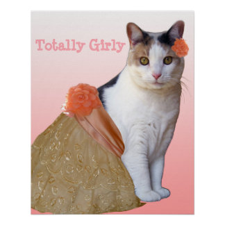 """""""Perfectly Girl"""" Calico Cat Poster"""
