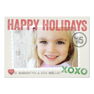 Perfectly Packaged and Stamped Holiday Photo Card