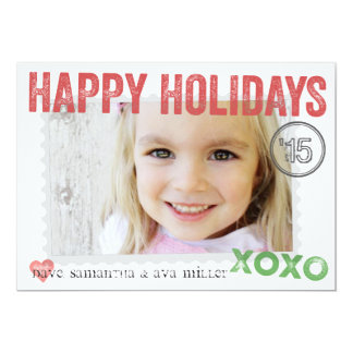 Perfectly Packaged & Stamped Holiday Photo Card