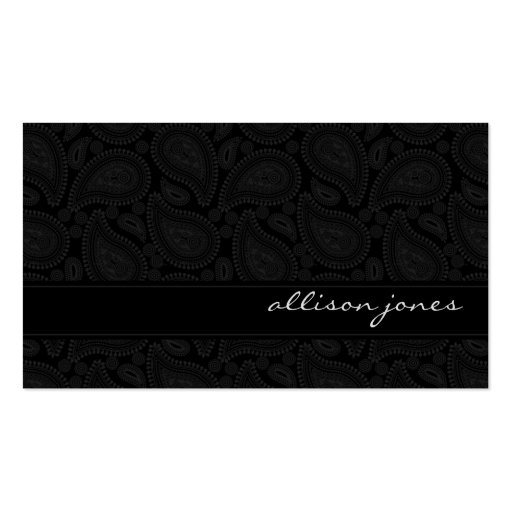 Perfectly Paisley Black Chic Business Card