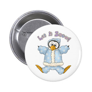 Perfectly Penguin · Baby Blue Pinback Button