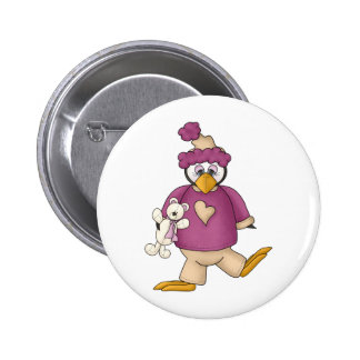 Perfectly Penguin · Baby Purple Pinback Buttons