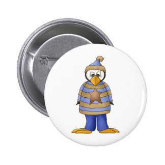 Perfectly Penguin · Boy Blue Pinback Button