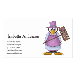 Perfectly Penguin · Girl Purple Business Card