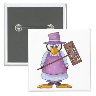 Perfectly Penguin · Girl Purple Pinback Button