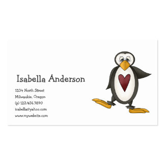 Perfectly Penguin · Heart Business Card