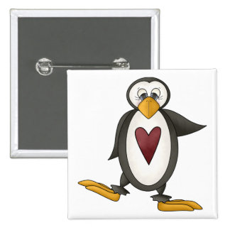 Perfectly Penguin · Heart Pinback Button
