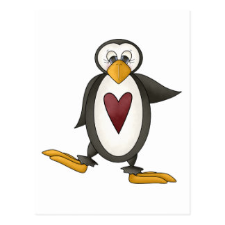 Perfectly Penguin · Heart Post Card