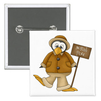 Perfectly Penguin · North Pole Pinback Buttons