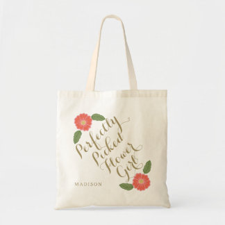 Perfectly Picked Flower Girl flowergirl gift Tote Bag