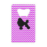 Perfectly Pink Chevron With Poodle Wallet Bottle Opener