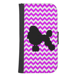 Samsung Galaxy S4 Wallet Case with Poodle Phone Cases design