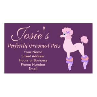 Perfectly Pink Poodle Business Cards