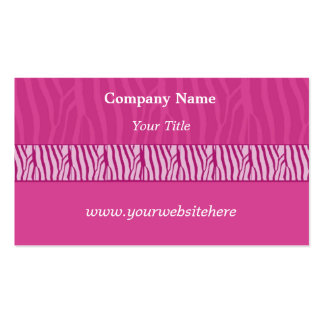 Perfectly Pink Zebra Print Business Card