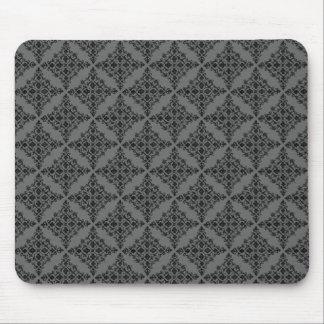 Perfectly Polished Damask Mousepad, Gray Mouse Pad