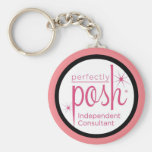 Perfectly Posh Independent Consultant gifts Basic Round Button Keychain