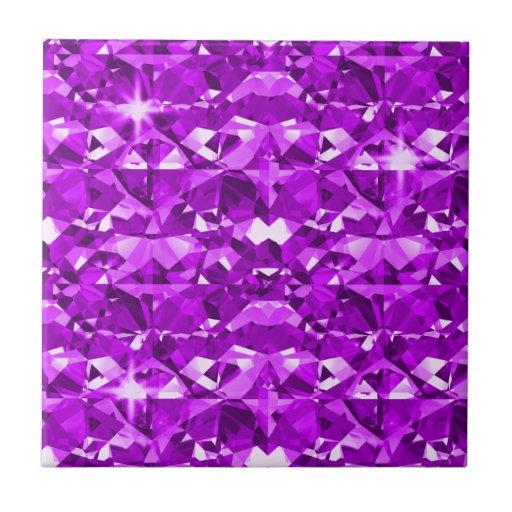 Perfectly Purple Diamonds Ceramic Tile