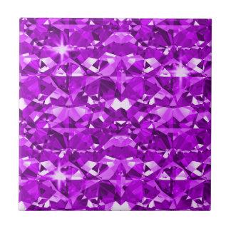 Perfectly Purple Diamonds Small Square Tile
