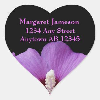 Perfectly Purple Floral Wedding Address Label
