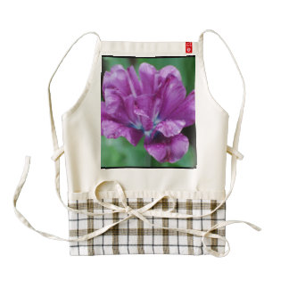 Perfectly Purple Parrot Tulip Zazzle HEART Apron