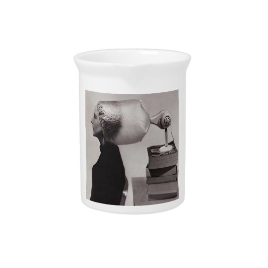 Perfectly Retro Sixties Hairdo Flower Vase Drink Pitchers