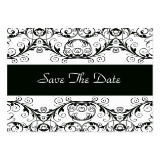 Perfectly Vintage Save The Date / Black & White Large Business Cards (Pack Of 100)