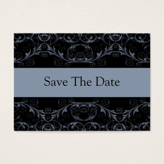 Perfectly Vintage Save The Date Cards / Slate