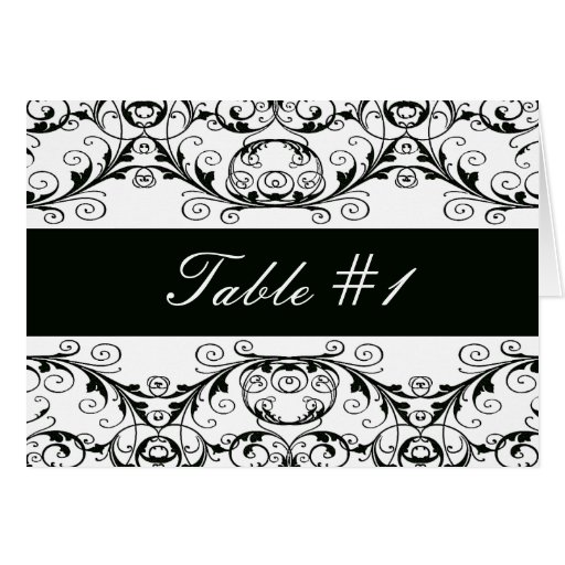 Perfectly Vintage Table Tent Cards / Black & White