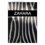 Perfectly Zebra Print Personalized Name Greeting Card