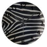 Perfectly Zebra Print Wallclock