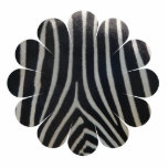 Perfectly Zebra Print Whimsical Flower Acrylic Cut Out