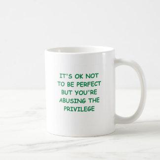 perfecto taza básica blanca