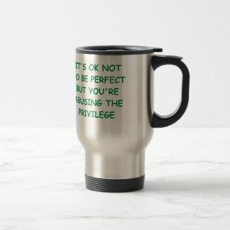 perfecto taza de viaje de acero inoxidable