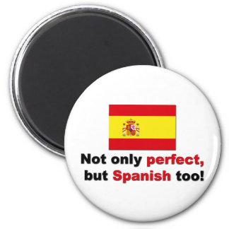 Perfecto y español imán para frigorífico
