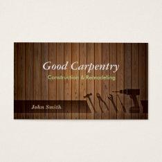 Perfessional Carpenter Repair Business Cards at Zazzle