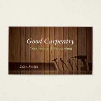 Perfessional Carpenter repair business cards