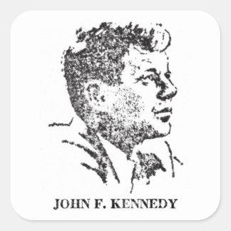 perfil 1963 de John F. Kennedy Calcomanías Cuadradas Personalizadas