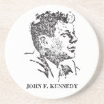 perfil 1963 de John F. Kennedy Posavasos Cerveza