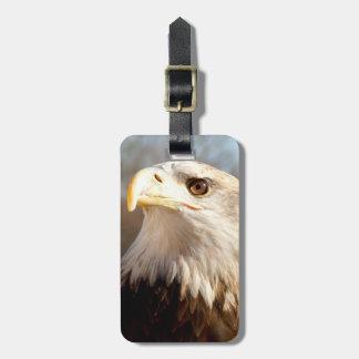 Perfil americano de encargo de Eagle calvo Etiquetas De Equipaje