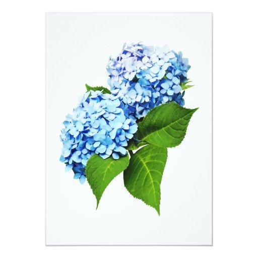 """Perfil azul del Hydrangea Invitación 5"""" X 7"""""""