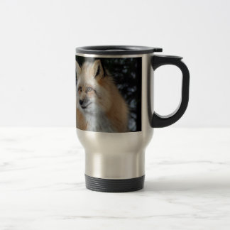 Perfil bonito del Fox Taza De Viaje