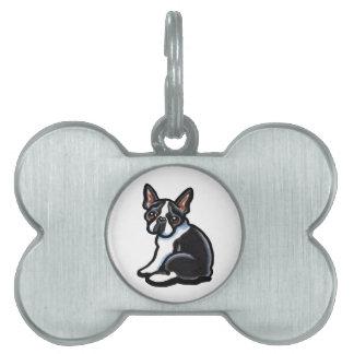 Perfil de Boston Terrier Placa De Mascota