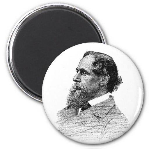 Perfil de Charles Dickens Imanes