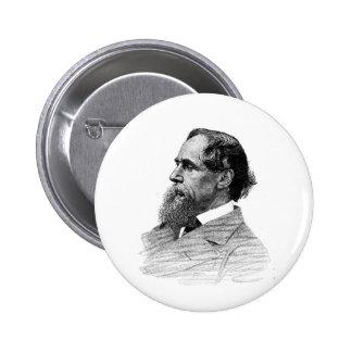 Perfil de Charles Dickens Pins