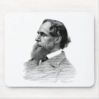 Perfil de Charles Dickens Tapetes De Ratones